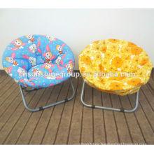 Fashionable folding round beach chairs,small size half moon chair