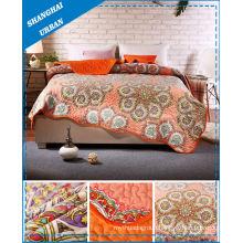 Flower Print Home Bedding Scallop Quilt