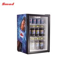 Портативный Стеклянный Отель Холодильник Мини-Бар Дисплей Холодильник Кулер