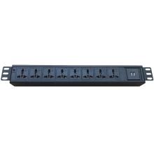 Super quality 1.5U 8 way PDU socket 2M cable Black rack usb PDU with clients'logo