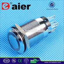 Daier 19mm botão interruptor interruptor de botão de pressão à prova d 'água
