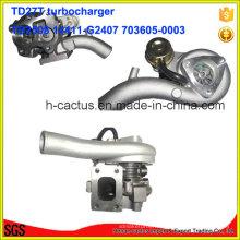 Tb2580 Supercharger 14411-G2407 703605-0003 Turbocompresseur pour Nissan Td27t