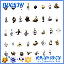 Bijoux de charme de bracelet en métal personnalisé de 10 mm de mode pour la vente en gros