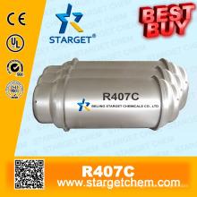 Хладагент R407c с высокой степенью чистоты лучше всего покупается в тонном резервуаре для охлаждения охладителя кондиционера