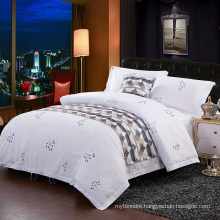 Cotton Printed Hotel Bedding with Bed Sheet and Duvet Cover