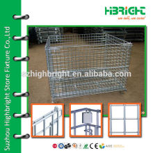 zinc plated wire metal folding container