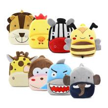Custom Printed Logo Popular Cute Children Cartoon Plush School Bag