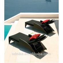 wholesale rattan/wicker outdoor furniture + Aluminium frame pool sun bed +sun lounger