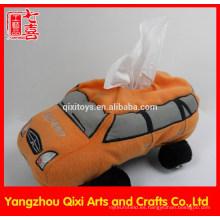La venta de la fábrica de la felpa del coche de juguete formó la caja linda del tejido del coche de la caja del tejido
