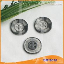 Bouton en alliage de zinc et bouton en métal et bouton de couture métallique BM1651