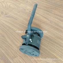 DIN a forgé la vanne à bille d'extrémité de connexion de bride de l'acier au carbone A105