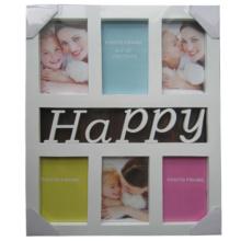 6, 4 von 6 glücklich weiß Kunststoff Collage-Frame öffnen