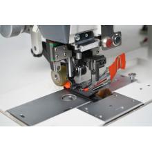 Máquina de coser de aguja doble con accesorio de cortador automático