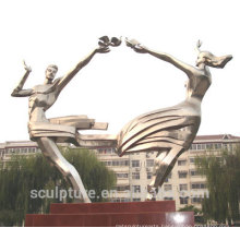 2016 New Stainless Steel Sculpture For Garden&School High Quaity Urban Status