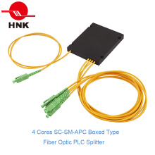 1: 4 Sc/APC Singlemode Boxed Type Fiber Optic PLC Splitter