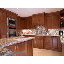 Americano resistente al agua montado gabinete de cocina con encimera