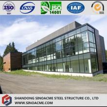 Leichte Stahlrahmen-Villa mit Glasvorhangfassade