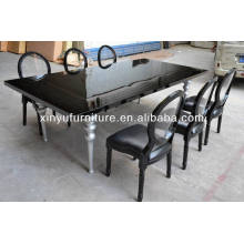 Wedding high gloss dining table and louis chairs XY0223