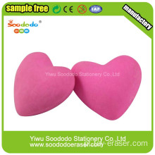 Pink Love Shaped Borracha, Festival Eraser Para Promocional