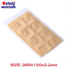 Solong Tattoo 260*150*2.2mm Silicone Eyeline Permanent Makeup Tattoo Practice Skin