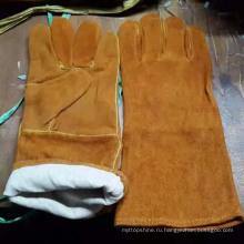 Трудовая корова Сплит-кожа Защитные рабочие Сварные перчатки