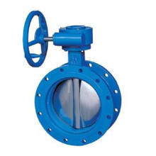 worm gear turbine drive butterfly valve for cement
