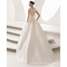 High Quality Lace Satin Ballgown Evening Prom Bridal Dress (RS015)