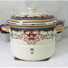 Panela de vapor de esmalte japonês / panela de sopa pote de cerâmica