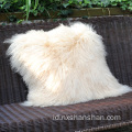 Rumah Dekoratif Ukuran Custom Lamb Fur Cushion Cover