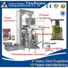 Fully automatic cooked rice packing machine price for snack food hot selling in singapore