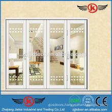 JK-AW9104 pure white nice four leaf interior glass sliding door