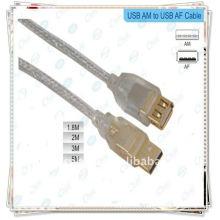 NOUVEAU USB 2.0 A MALE À UN CABLE D'EXTENSION FEMME M-F