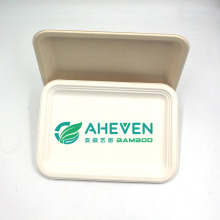 Wholesale Disposable Natural Color Sugarcane Bagasse Tableware Food Tray For Fast Food