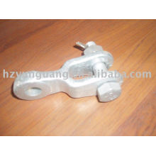 Hot-dip galvanized optical fiber cable fitting telecom ADSS OPGW pole line clevis hardware power transmission line accessories