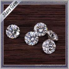 A melhor qualidade E / F cor branca redonda 1.5 quilates Moissanite pedras a preço de atacado