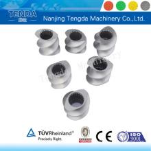 Composant de vis d'extrudeuse traité avec précision pour machine d'extrusion Tenda
