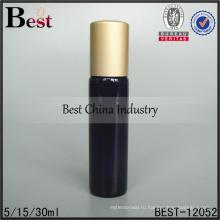 5мл 15мл 30мл трубка стеклянная бутылка с роликом мяч и алюминиевой крышкой продукты для ухода за кожей упаковка оптом