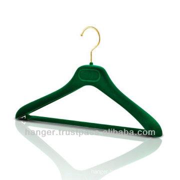 Plastic Jacket Hanger with Soft Velvety Coating for Bedroom Furniture