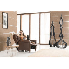 Sofá eléctrico del reclinación del sofá del cuero de la calesa del cuero genuino (791)