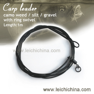 carp fishing poly leader with ring swivel