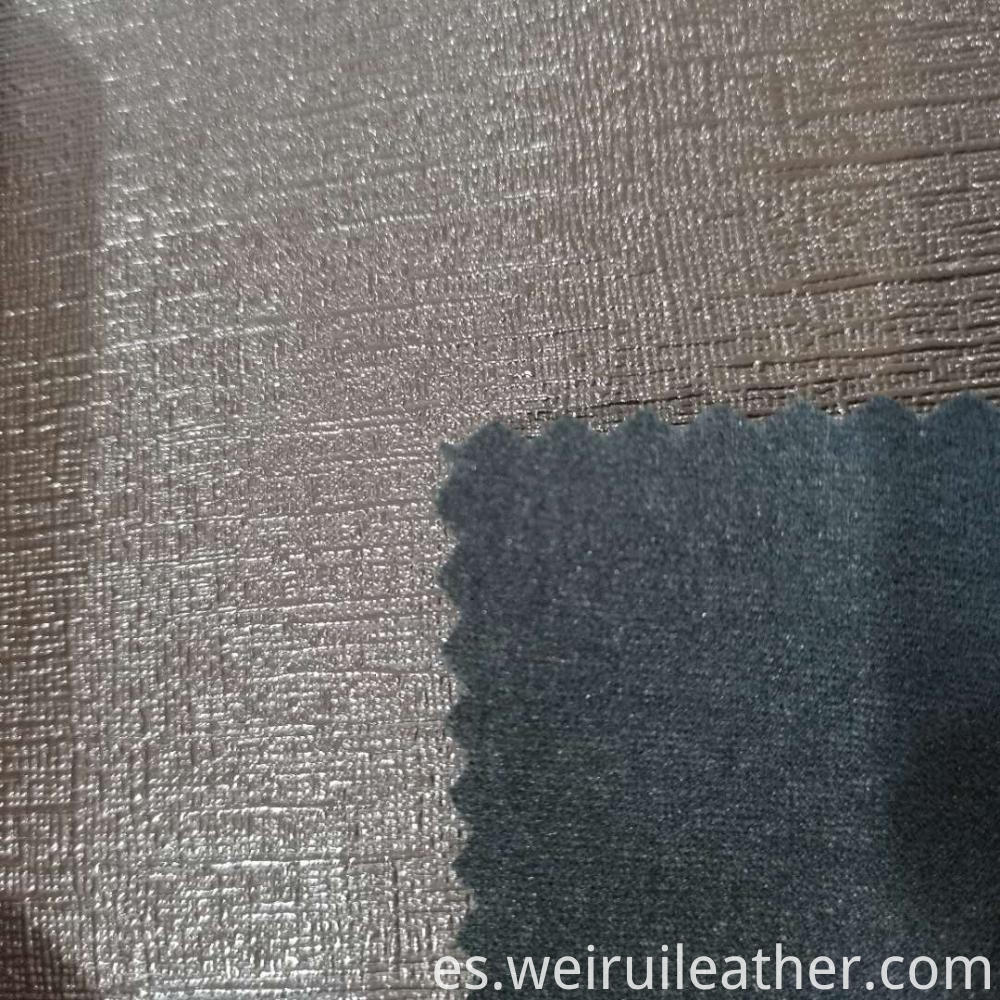0 8mm Cross Fabric Grain Pvc Leather