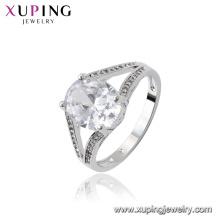 15727 xuping joyas china 5 gramos de oro diseño de anillo de circonia cúbica