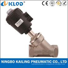 Valve de contrôle de débit en acier inoxydable de demi-pouce (KLJZF-15)