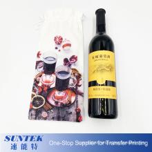 Sublimation Faux Burlap Wine Bag