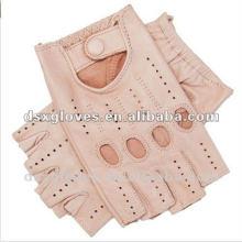 Girls leather fingerless gloves