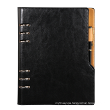Brothersbox Wholesale High Quality Spiral Binding Custom Refillable Leather Bound Journal Notebook
