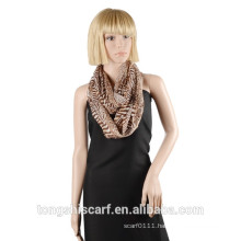 2016 Spring/Summer Lady's classic zebra printed pattern polyester voile loop scarf round scarf