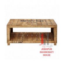 Mesa de café de madera de panel