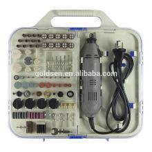 161pcs 135W portátil Power Hobby Rotary Tools Kit Acessório Handheld Grinding Mini Grinder elétrico