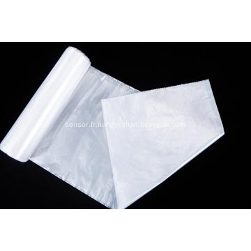 Grand sac poubelle en plastique blanc
